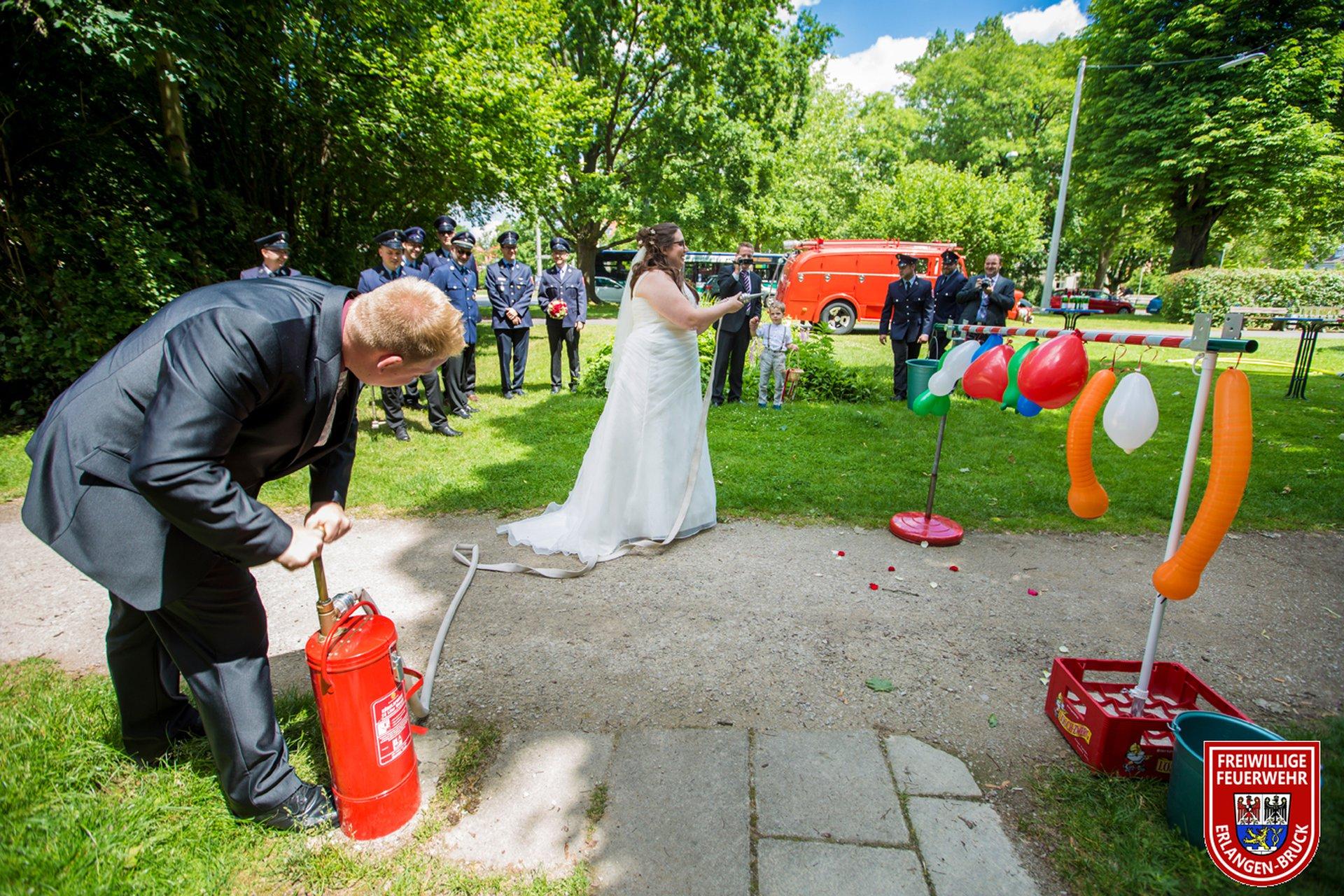 Freiwillige Feuerwehr Bruck E V Hochzeit In Der Feuerwehr